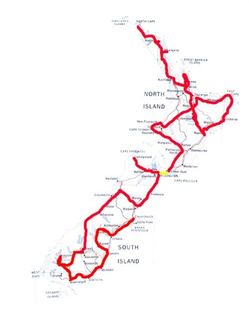 route nieuwzeeland
